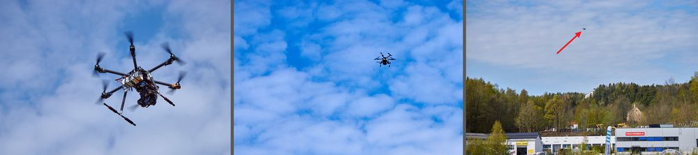 Dronene var kapable til å fly langt unna. Skikkelig langt.