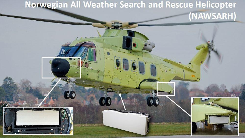 Slik får redningshelikopteret 360-graders radar med buken fri