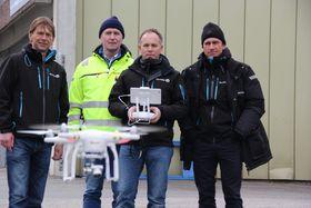 Droneforerne fikk opplæring i bruk av drone på kurs tidligere denne måneden.