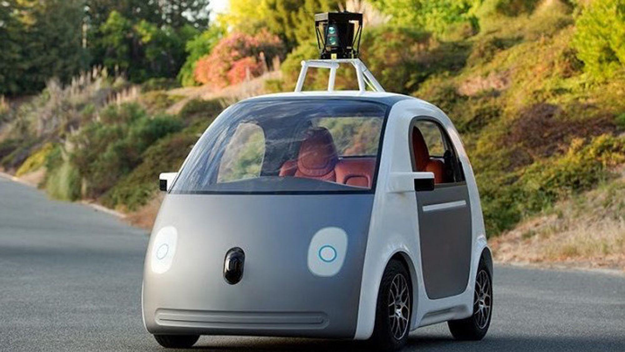 Googles første selvkjørende bil.