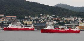 Kvitbjørn og Kvitnos er de to første LNG-drevne frakteskipene som allerede viser at naturgassdrift er fullt mulig.