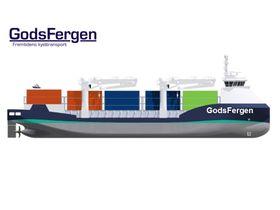 Konseptet GodsFergen kan bli det første som realiseres som demoprosjekt i Grønt Kystfartsprogram. .