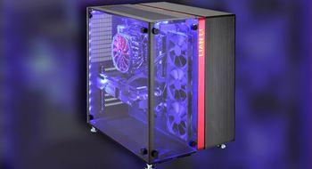Lian Li PC-O9 har komponentene på utstilling