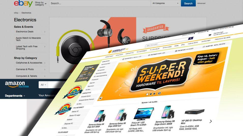 Komplett er den mest populære norske nettbutikken, må se seg slått når man regner med Ebay og Amazon.