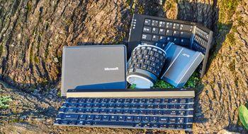Sammenbrettbare tastaturer