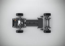 Drivlinjen på en elbil basert på CMA-plattformen.