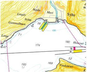 Konsulentselskapet Nyvoll har studert vind, strøm og bunnforhold for å finne beste plassering av den flytende kaia med plass til to skip på opptil 340 meters lengde.
