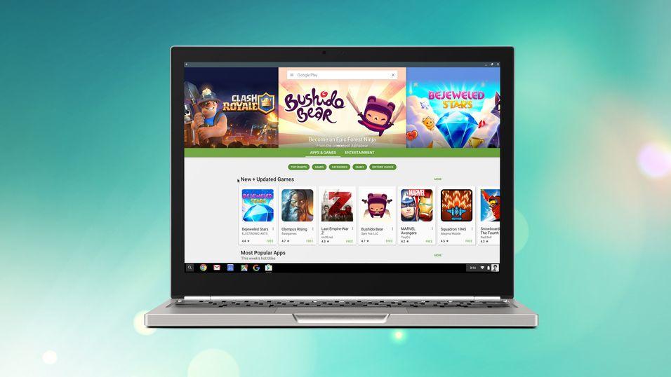 Android-apper blir tilgjengelige på Chromebook. Dette er en av modellene som får støtten først, Chromebook Pixel.