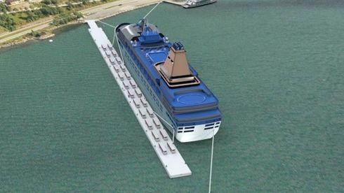Vil bygge flytende cruisekai med landstrøm på Sunnmøre