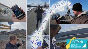 Norges største test av mobildekning