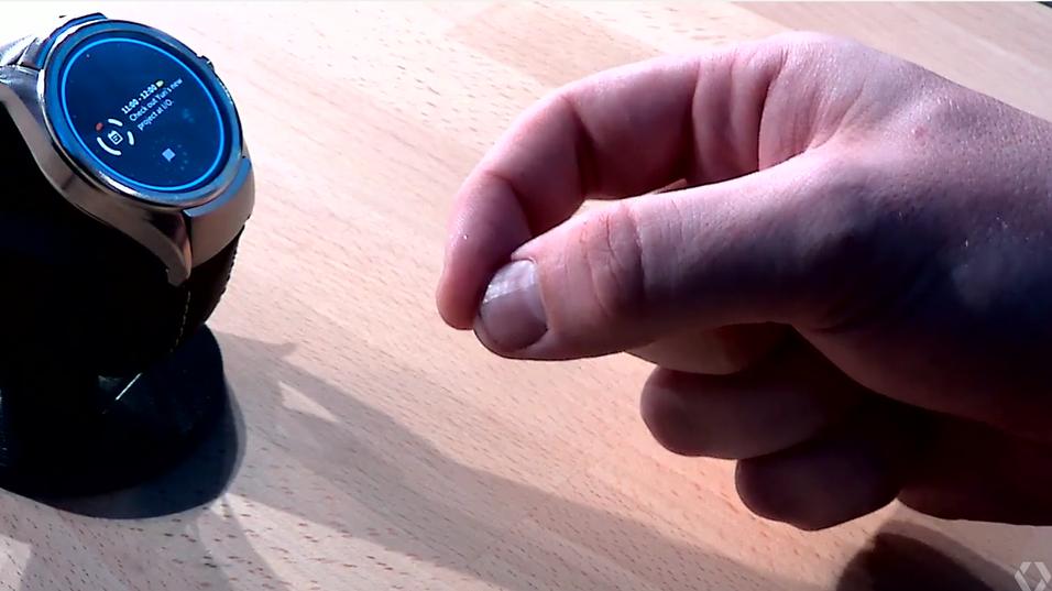 Ved hjelp av radarbrikken kan smartklokker styres ved hjelp av enkle fingerbevegelser.