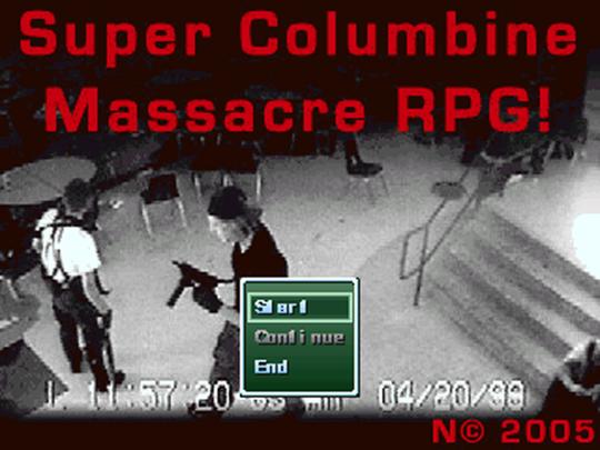 Super Columbine Massacre RPG! var en ung spillutviklers forsøk på å forstå bakgrunnen for massakren på Columbine High School i 1999. Spillet ble kritisert fra de fleste hold for å glorifisere drapene.
