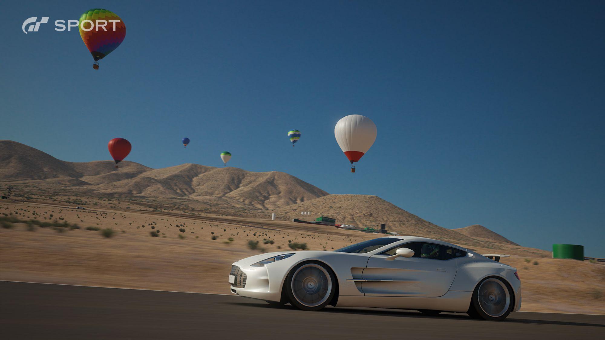 Flotte luftballonger pryder bakgrunnen.