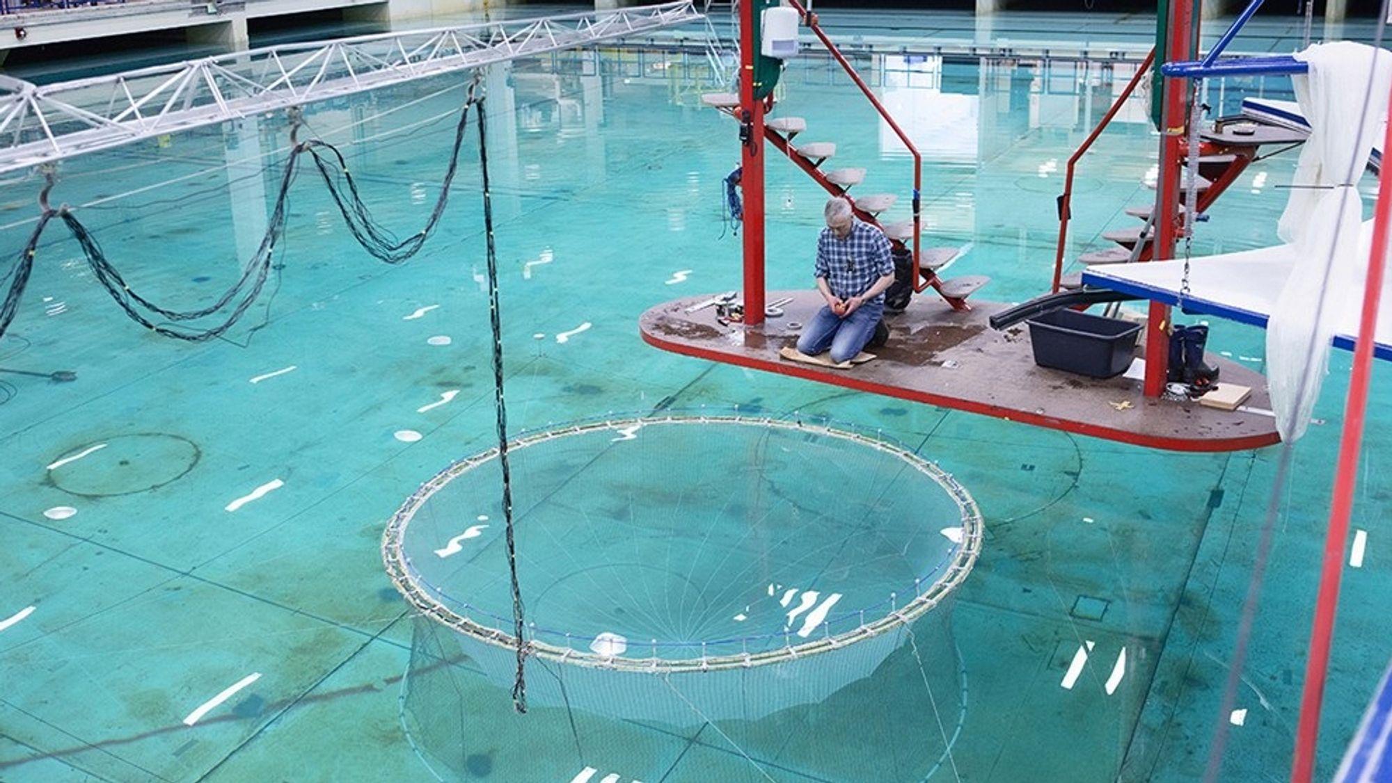 Aqualine Midgard System blir her testet hos Sintef Marintek. Aqualine er med i klyngen Akvarena.