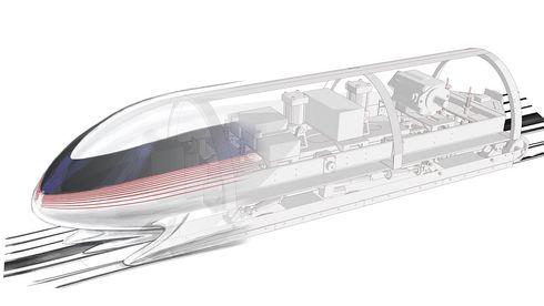 Hyperloop skal bestå av et nytt supermateriale som er ti ganger sterkere enn stål