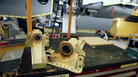 Dette er blant komponentene som er skiftet i understellet på F-16-flyene som følge av et havari med et dansk fly for et halvt år siden.