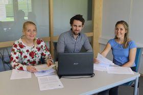 Michael Øverbø har skrevet masteroppgave i samarbeid med Statsbygg. Her sammen med medstudentene Matilde Funderud og Therese Karlsen.