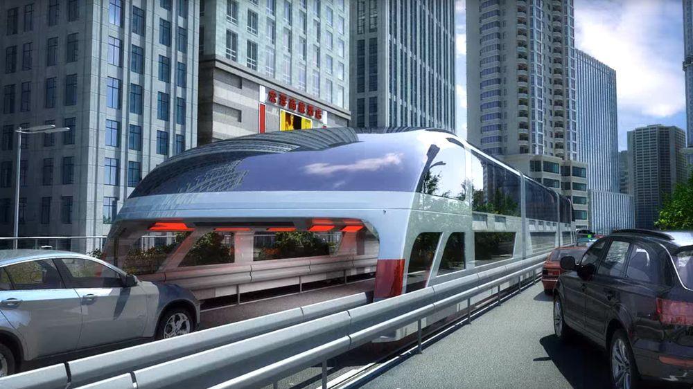 Den kinesiskutviklede styltebussen Transit Elevated Bus skal kunne erstatte 40 vanlige busser og fjerner behovet for kollektivfelt.