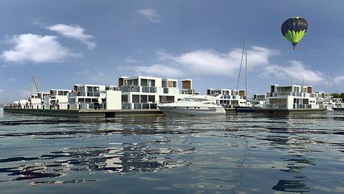 Alle vil bo ved havet. Her vurderer de flytende boliger i Norge
