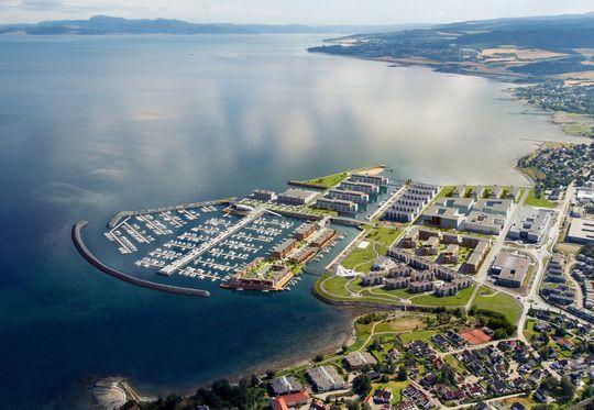 Målet: Slik skal Grilstad Marina se ut ferdig utbygget.