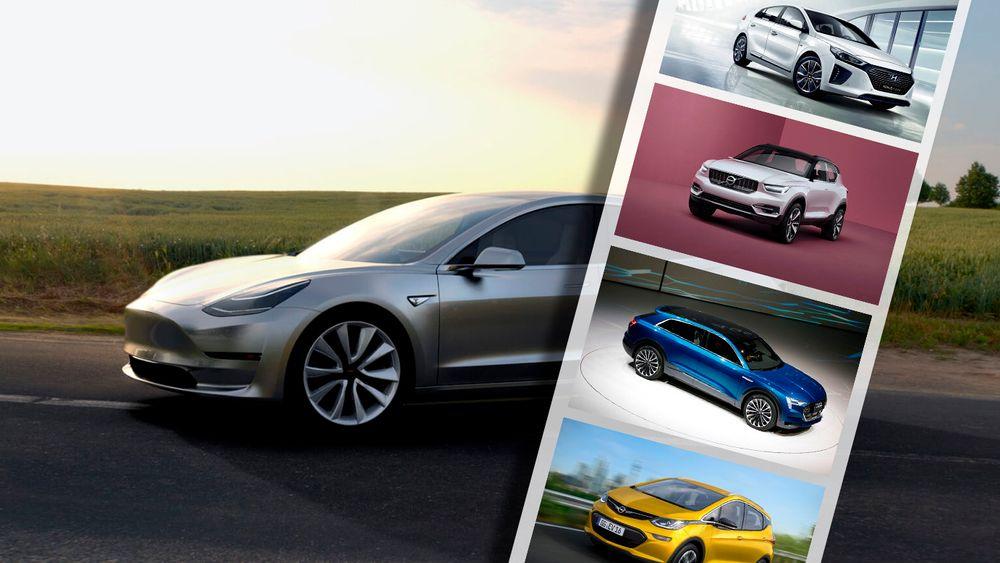 De kommende årene kommer det en rekke nye elbiler med lengre rekkevidde på markedet.