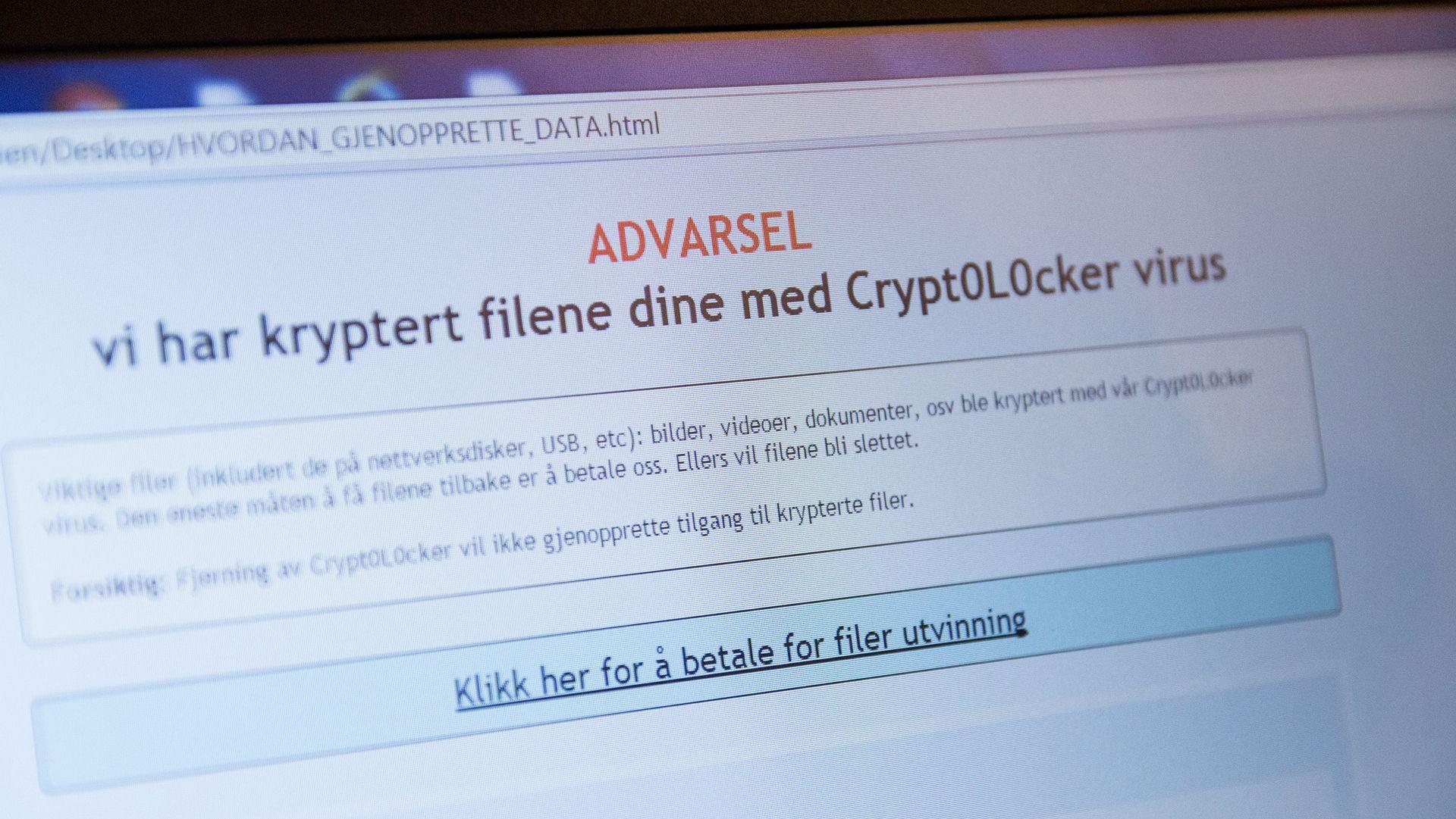 ANNONSE: Dette skjedde da vi lot maskinen vår bli kryptert av gisselviruset