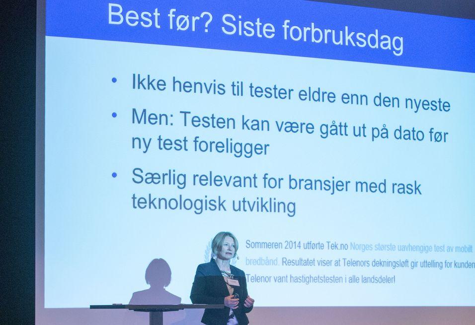Forbrukerombud Gry Nergård under Tek-konferansen i Strømstad.