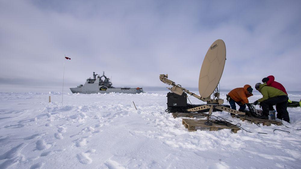 Forsvarsmateriell, Kystvakten og Cyberforsvaret har testet bredbåndsdekning i Arktis.
