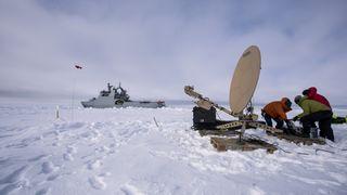 Nå har Forsvaret fått bredbåndsdekning i Arktis