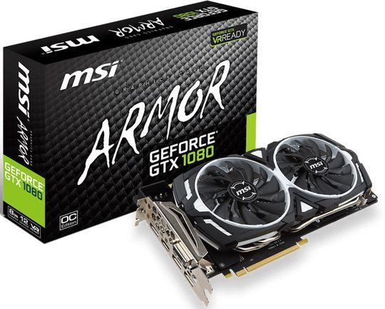 MSI GeForce GTX 1080 Armor OC.