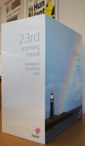 Denne boksen representerer en tredjedel av Statoils søknad for å sikre seg de nye områdene i Barentshavet.