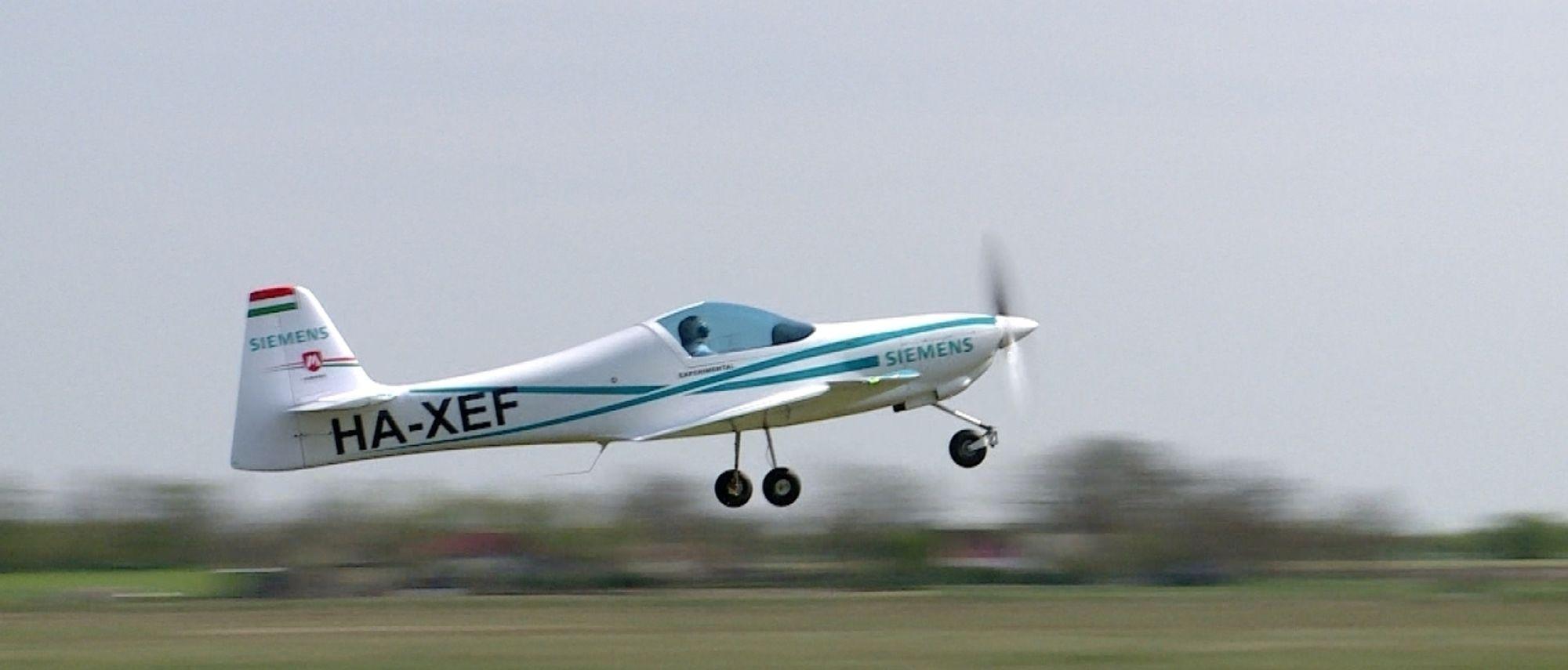 Elektriske fly er allerede i testfasten. (Foto: Siemens AG)