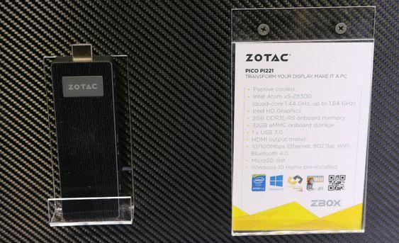Pinne-PC-en Zotac Zbox pico PI221.