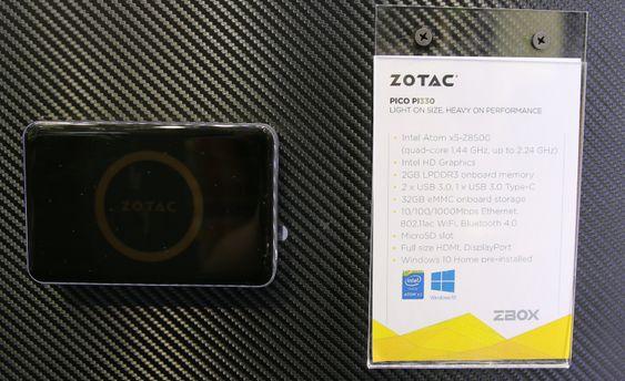 Den nette Zotac Zbox pico PI330.