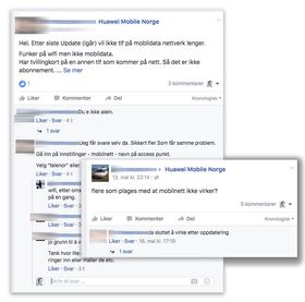 Flere brukere har meldt om samme problem via Huaweis Facebook-sider.