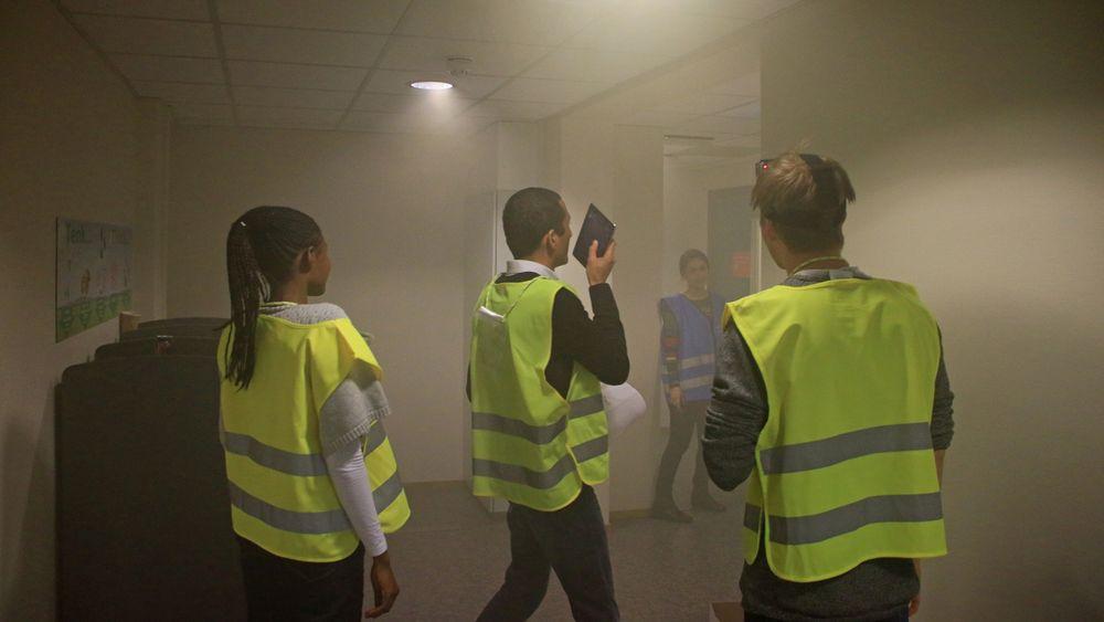 CIEM har samarbeidet nært med brannvesenet og SmartRescue har blitt testet ut på realistiske brannøvelser. Foto:CIEM– Ibrahim Mufti Pradityo