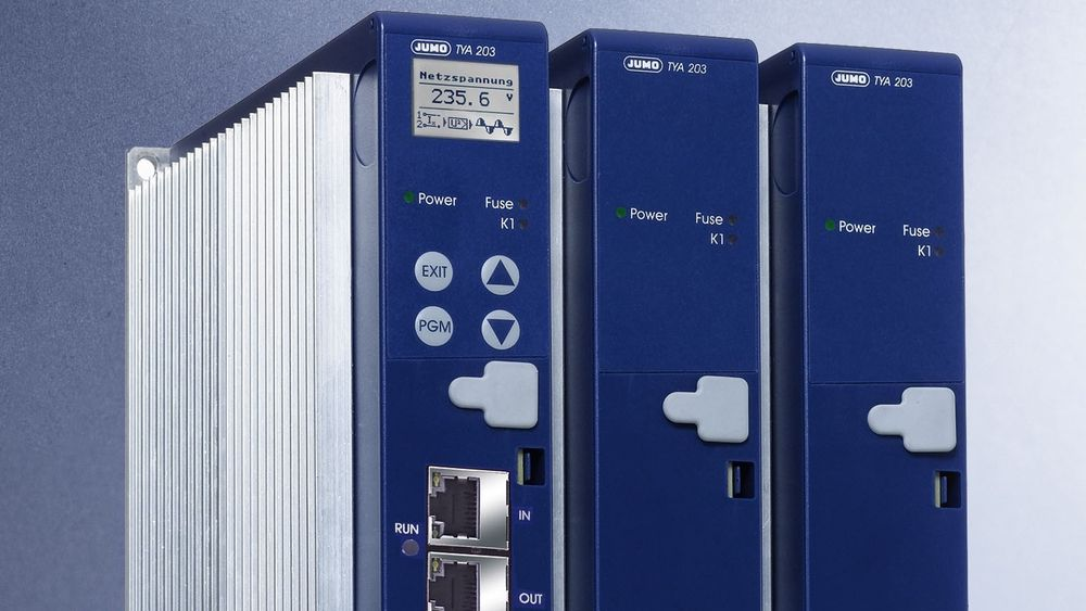 Jumo TYA 203, en tre-fase SCR Power Controller med en Ethernet basert