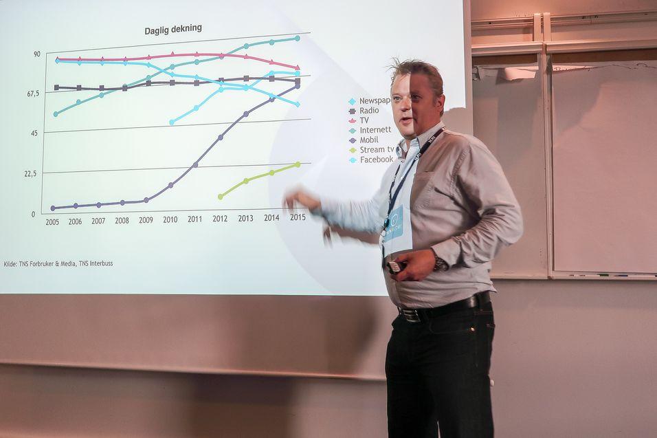 Vil sende og strømme: Går det som distribusjonssjef i NRK, Bjarne Andre Myklebust ønsker vil de som bor i dekningsområdet til NRKs såkalte skyggenett få internettdekning i tillegg til vanlig lineær-TV.