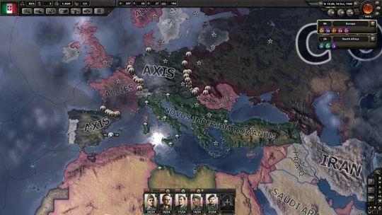 Man kan også lage andre allianser, som for eksempel Italias Nye Romerriket.