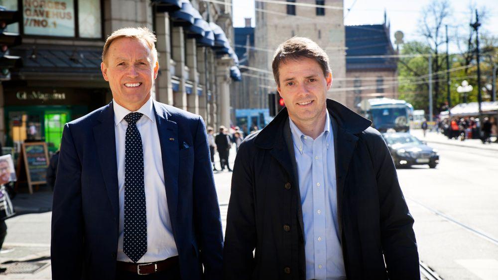 Nito-generalsekretær Steinar Sørlie (t.v.) og Teknas generalsekretær Ivar Horneland Kristensen har kjøpt ut Polyteknisk forening som eiere av Teknisk Ukeblad Media. Nå er prosessen i gang med å se på mulighetene for å finne en ny majoritetseier av selskapet.