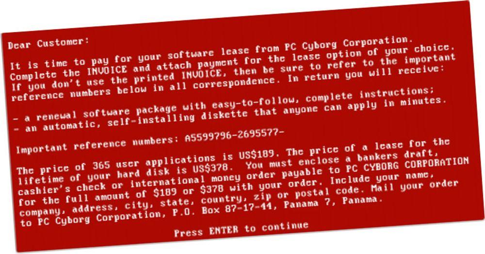 Dette var tidenes første «ransomware»