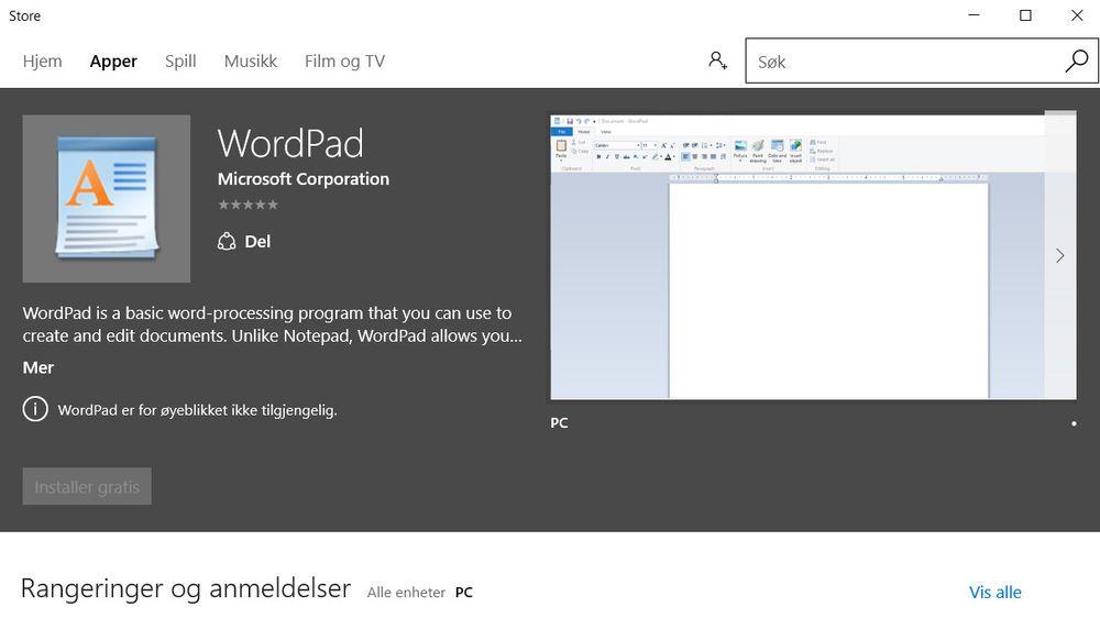 Win32-verktøy har begynt å dukke opp i Windows Store