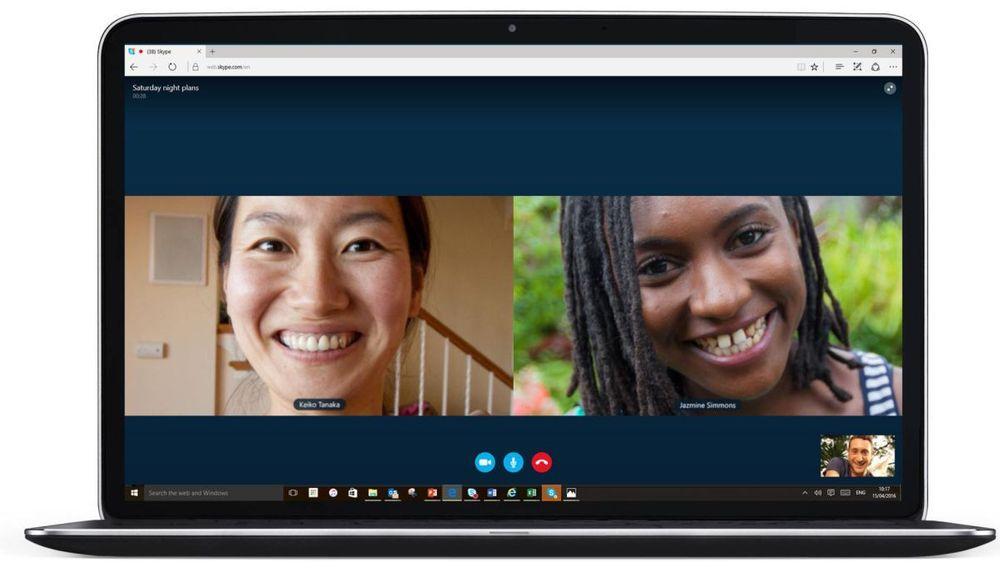 Avduket helt pluginfri Skype for Web