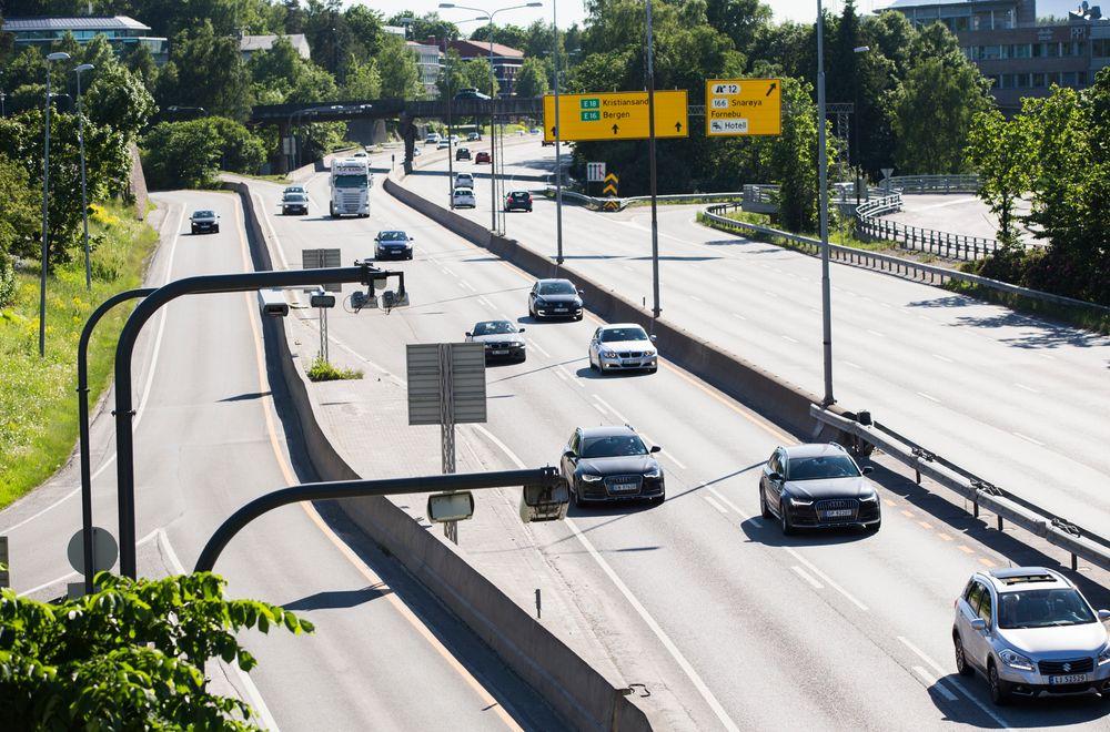 E18 sørover fra Oslo er blant landets mest trafikkerte.