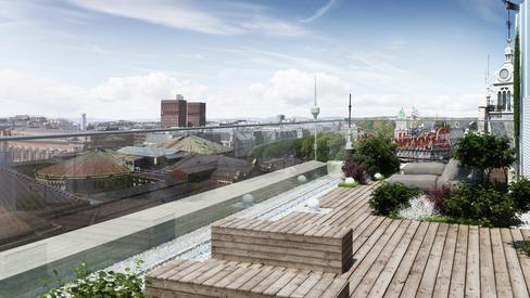 God arkitektur: Det er lettere å få gjennomslag for en smart og lekker løsning, men det krever noe ekstra av de som styrer prosessen. Ved å flytte det tekniske rommet på takterrassen åpnes den mot byen.