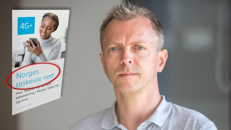 Kurt Lekanger, Testsjef i Tek.no, mener Telenor ikke forteller hele sannheten når de sier at Telenor har Norges raskeste mobilnett.