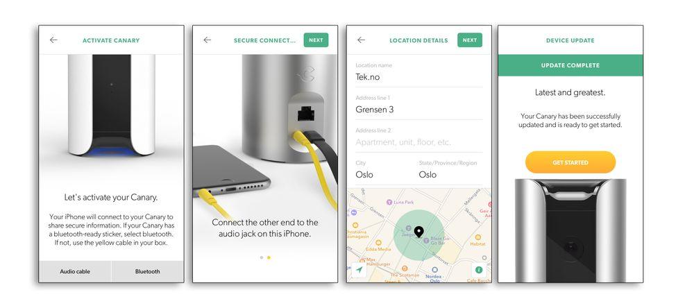 Installasjonen er veldig enkel, og appen tar oss gjennom den steg for steg.