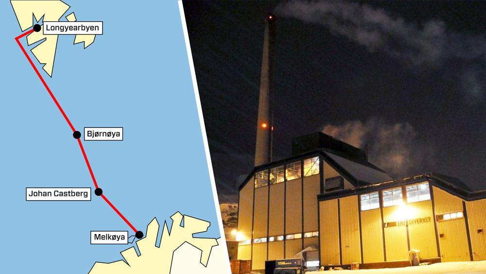 ABB ser på muligheten for å bygge en nesten 900 kilometer lang kabel fra Finnmark til Svalbard som kan koble på nye oljefelter, blant annet Johan Castberg, underveis.
