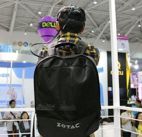 Hos Zotacs prototype er sekken myk og selve datamaskinen kan tas ut.