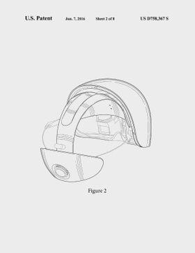 Dette er Magic Leap-brillene i sin nåværende form. Illustrasjonen er hentet fra patentdokumentet.